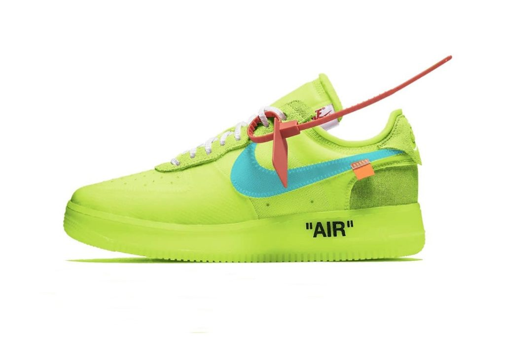 scarpe nike air force 1 gialle fluo
